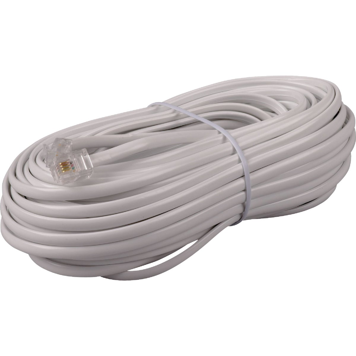 50' WHT PHONE LINE CORD - TP443WHRV by Audiovox Accessories