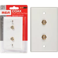 Audiovox Accessories WHT COAXIAL WALL PLATE VH128NV