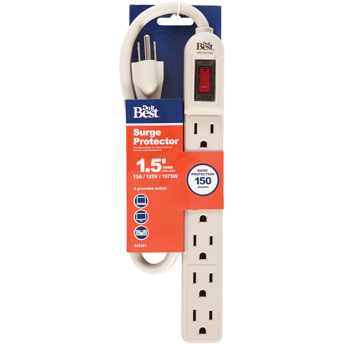 6-OUTLET SURGE STRIP