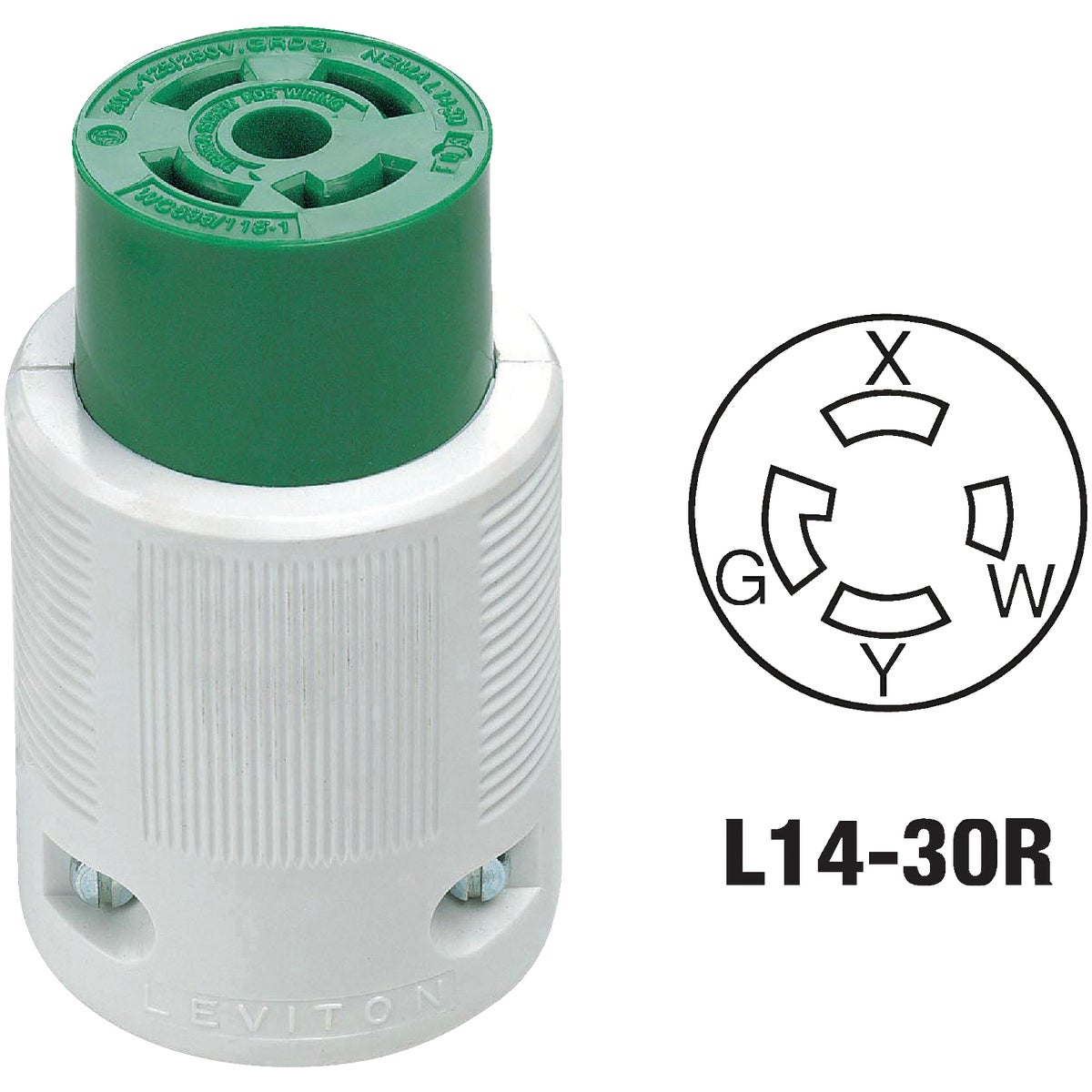 30A LOCK CORD CONNECTOR - 71430LC by Leviton Mfg Co
