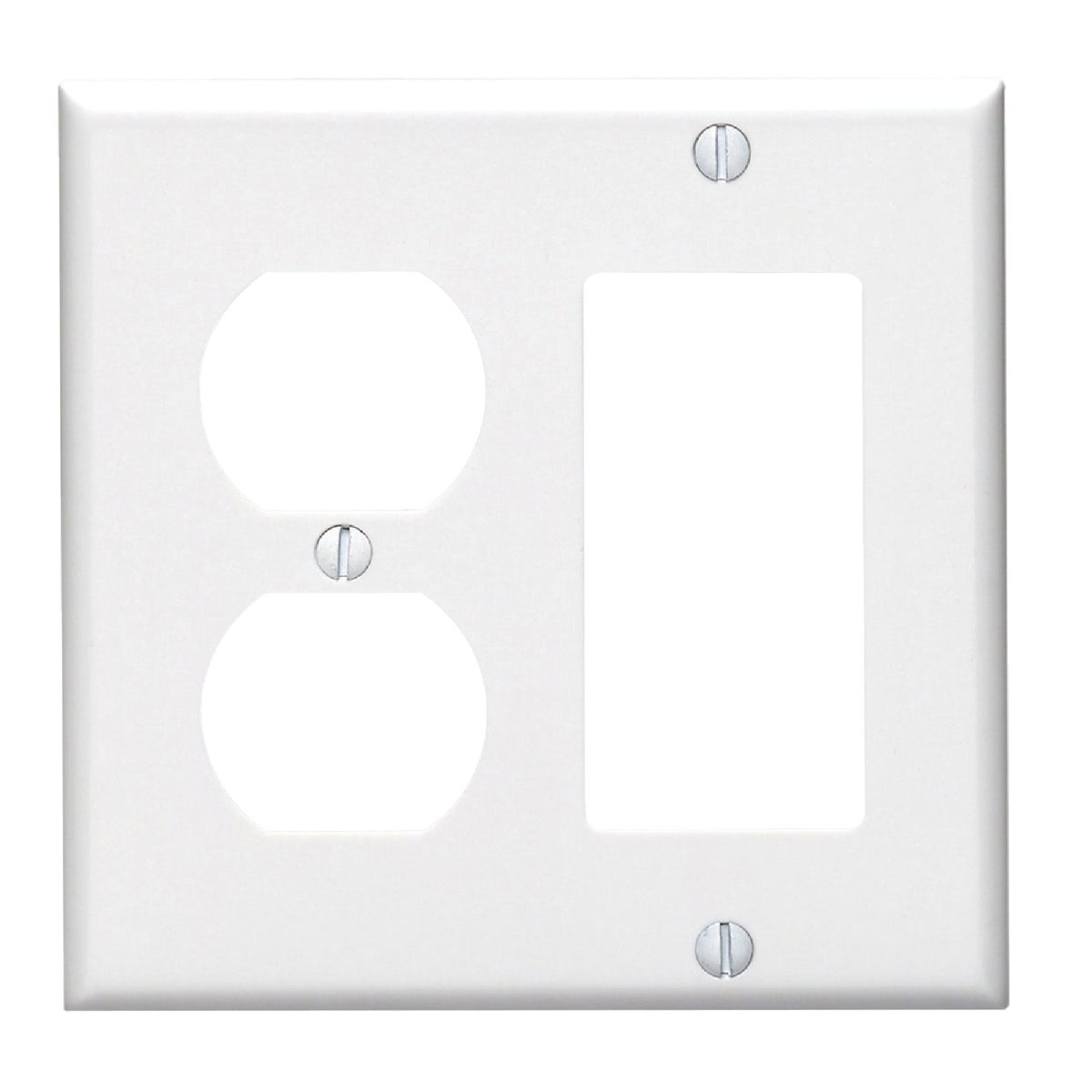 WHT COMBO WALL PLATE - 80455W by Leviton Mfg Co