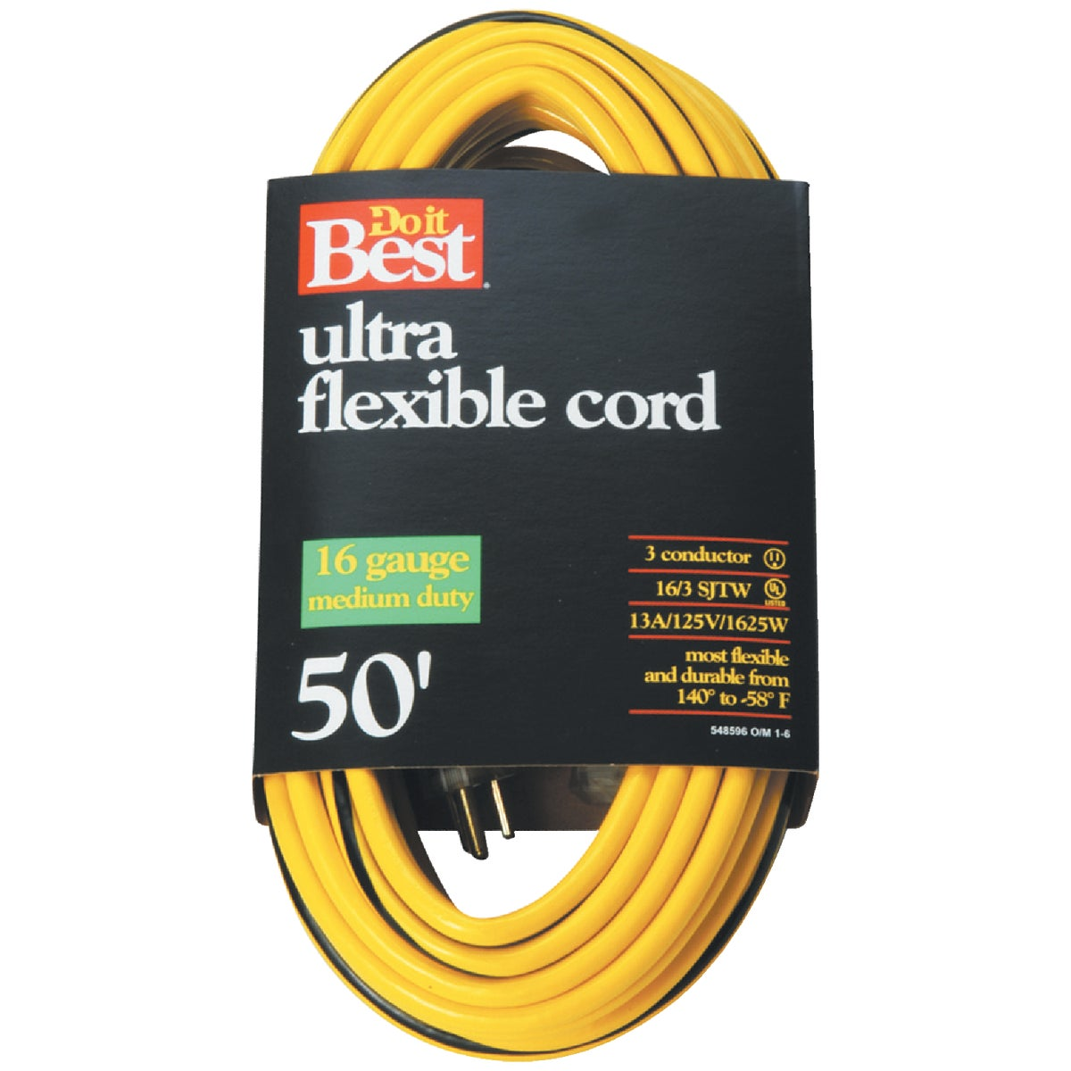 50' 16/3 YELLOW EXT CORD - 553061 by Woods Wire Coleman