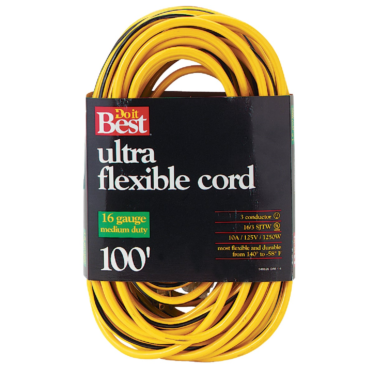 100'16/3 YELLOW EXT CORD - 553062 by Woods Wire Coleman
