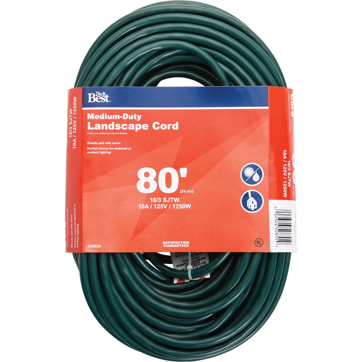 80' 16/3 GREEN EXT CORD - OU-JTW163-80X-GR by Do it Best