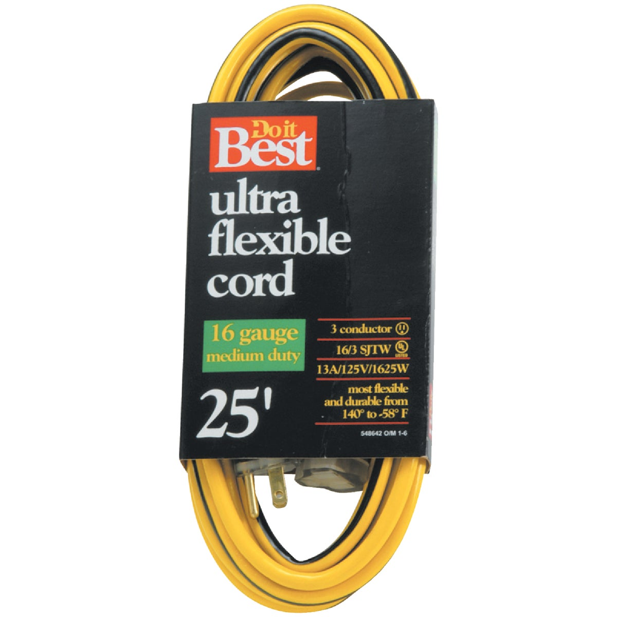 25' 16/3 YELLOW EXT CORD