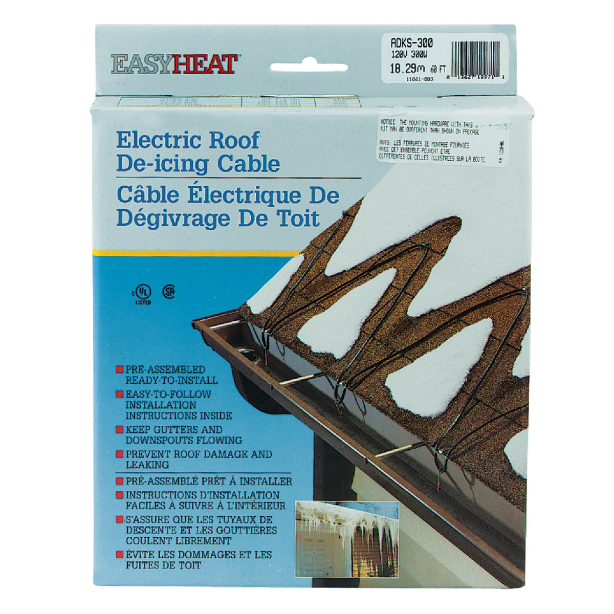 60' ROOF CABLE - ADKS300 by Easy Heat Inc