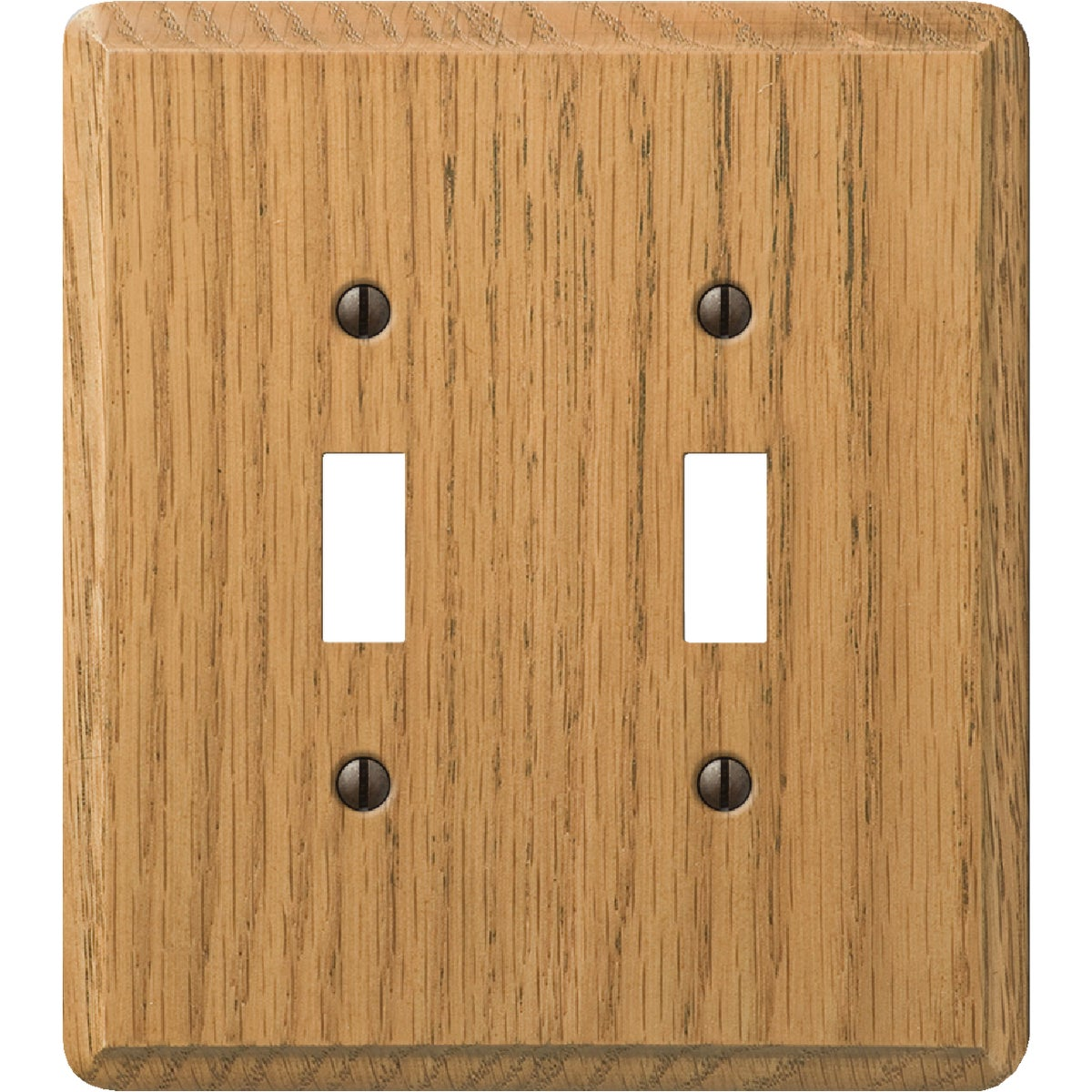 OAK 2-TOGGLE WALL PLATE