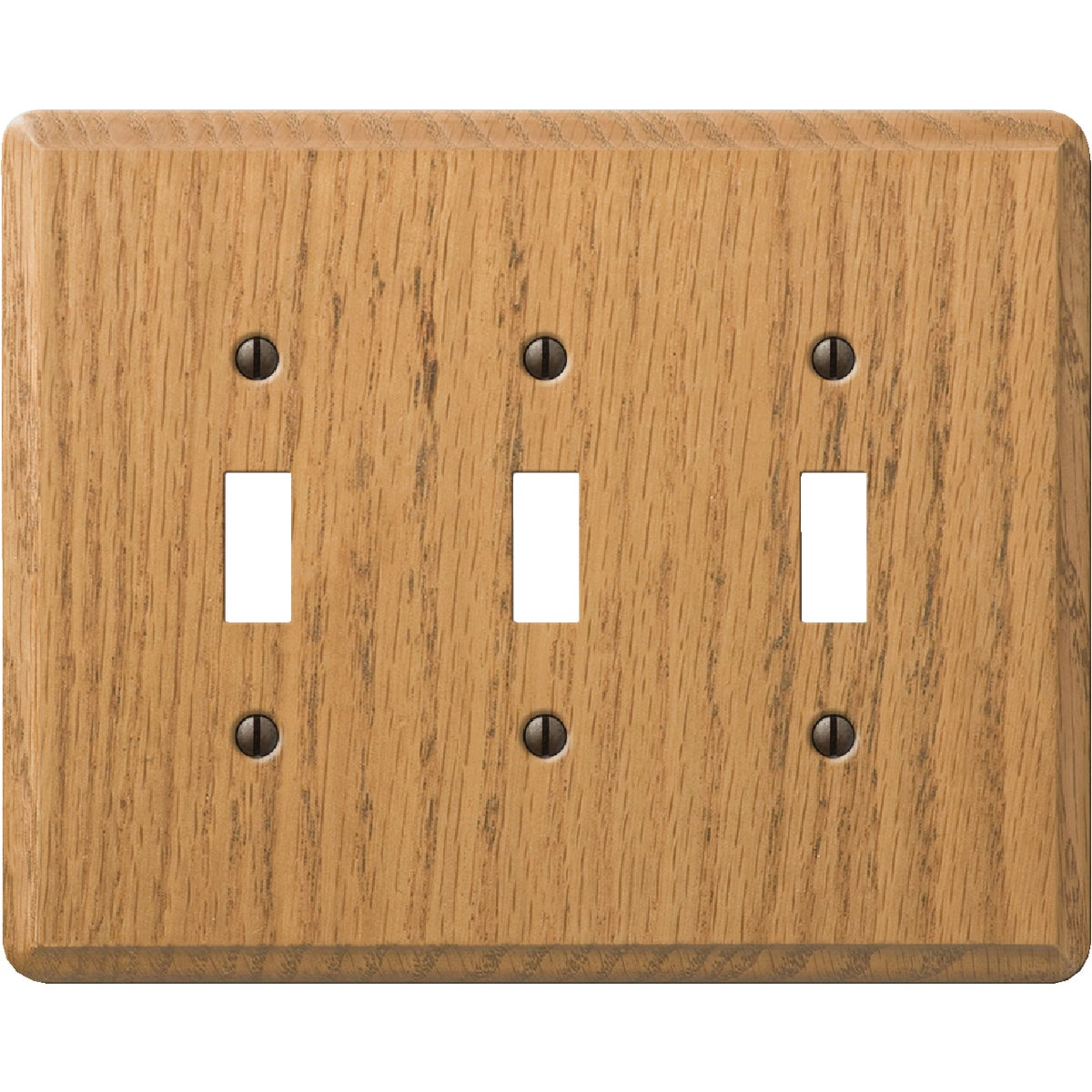 OAK 3-TOGGLE WALL PLATE
