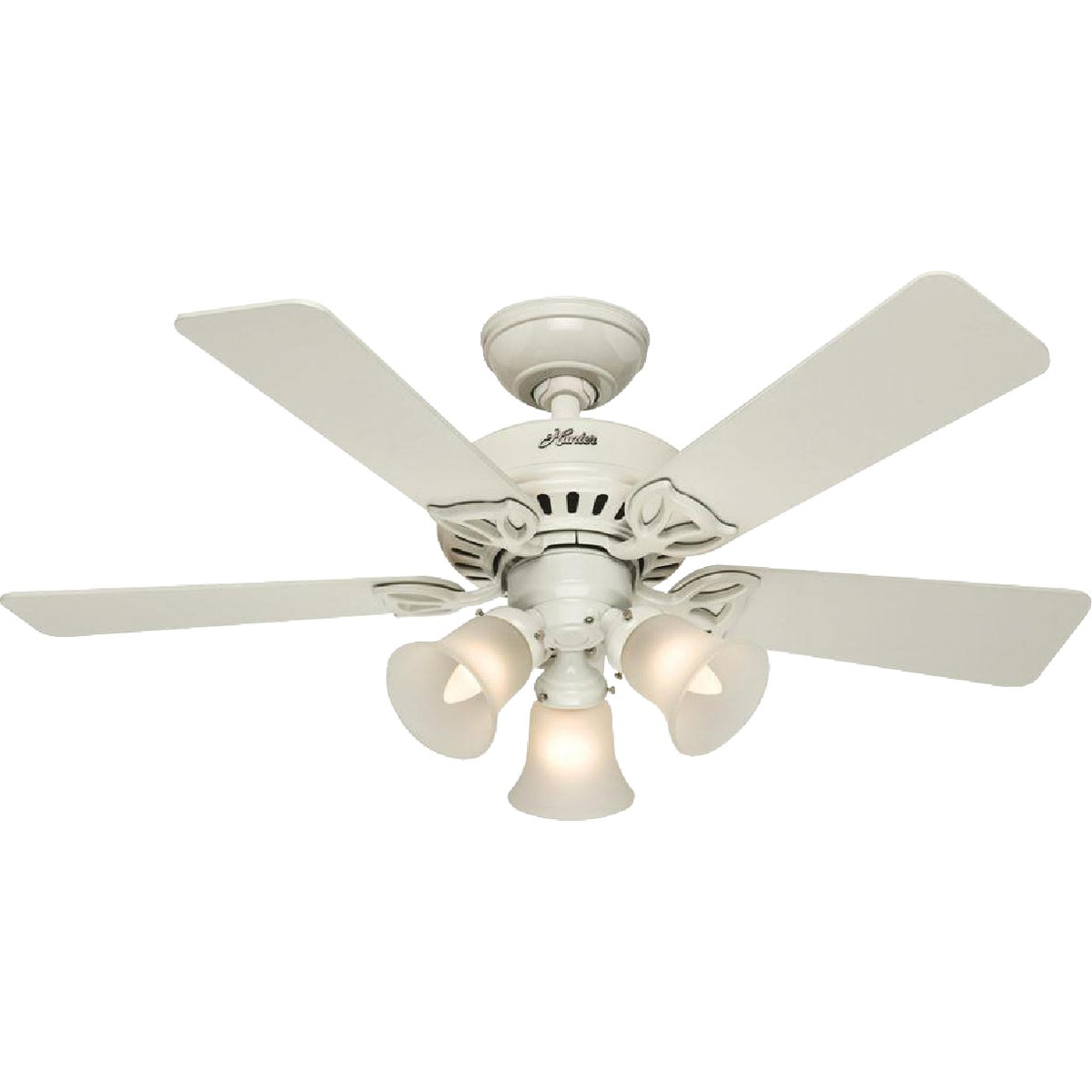 "42"" WHT CEIL FAN W/LIGHT - 53081 by Hunter Fan Co"