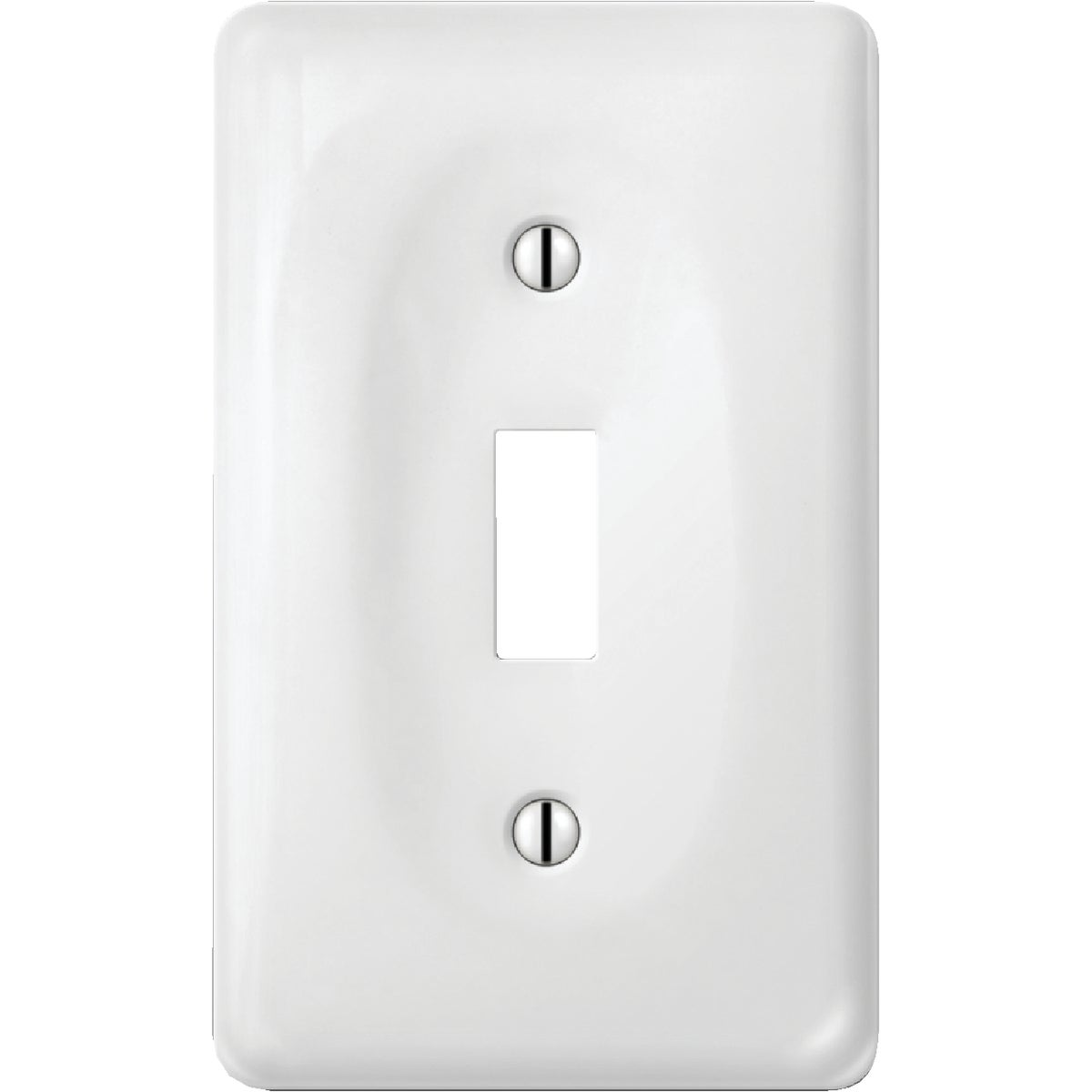 WHT PORC 1TOG WALL PLATE - 981CW by Jackson Deerfield Mf
