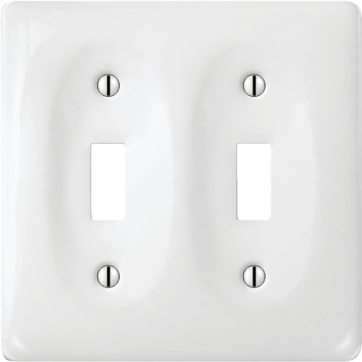 WHT PORC 2TOG WALL PLATE