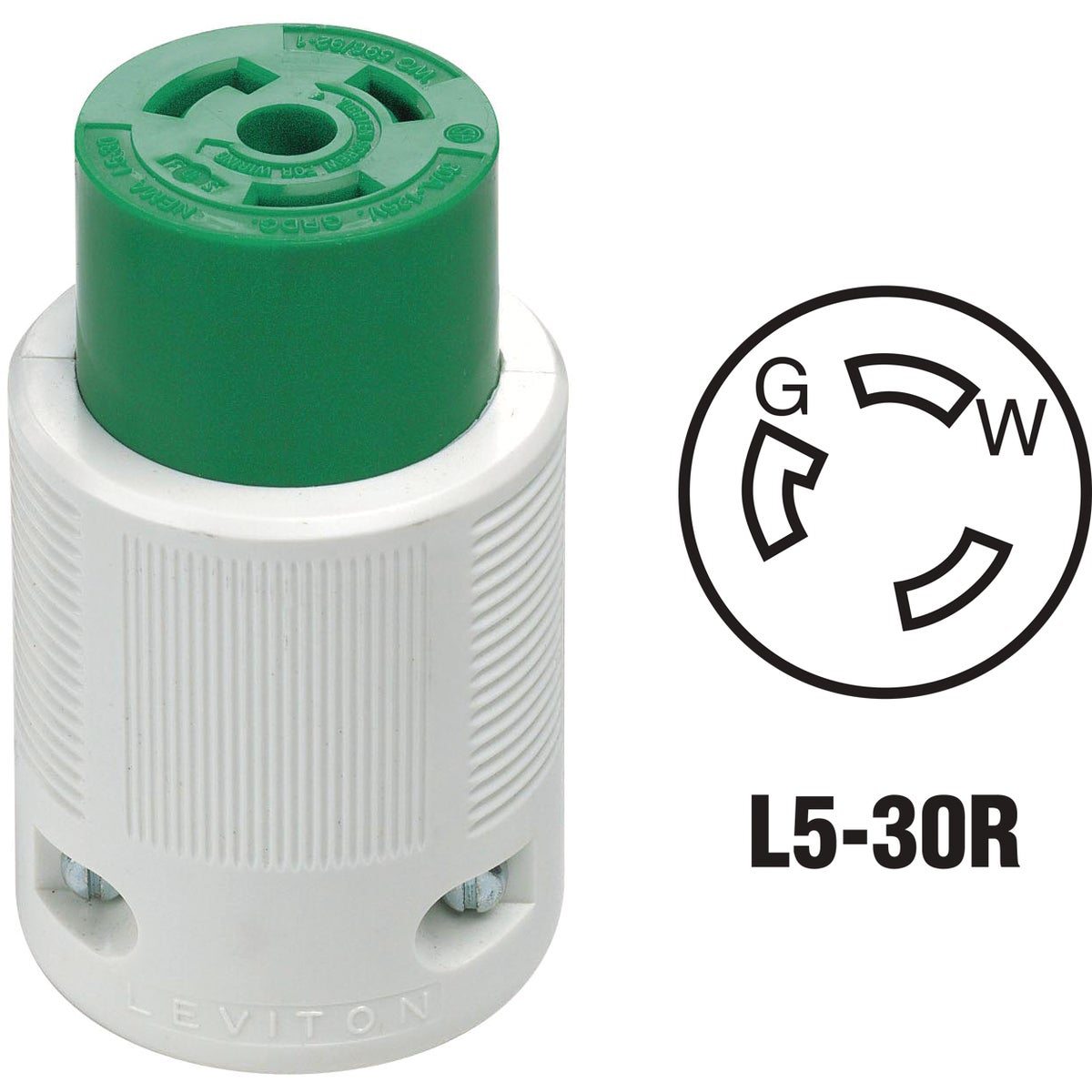 30A LOCK CORD CONNECTOR - 70530LC by Leviton Mfg Co
