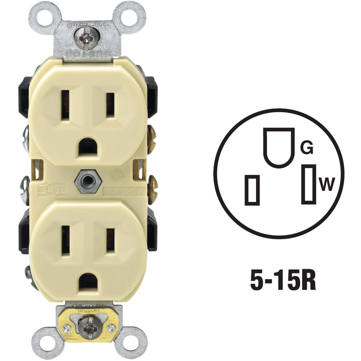 IV DUPLEX OUTLET - S01-BR15-00I by Leviton Mfg Co