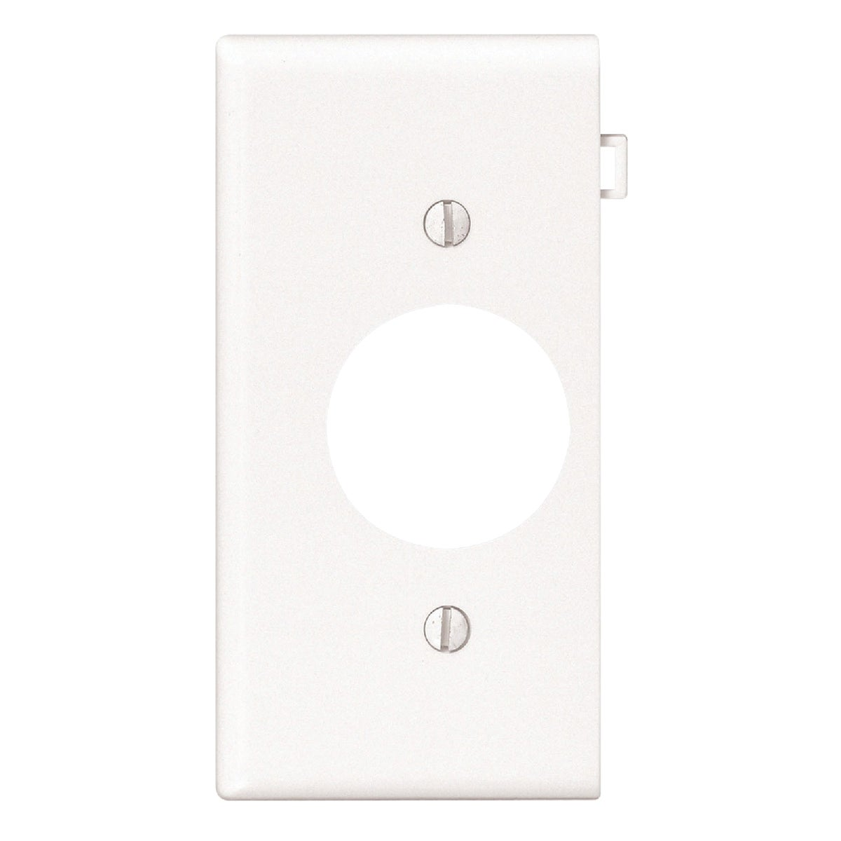 WHT SINGLE END PLATE - PSE7W by Leviton Mfg Co