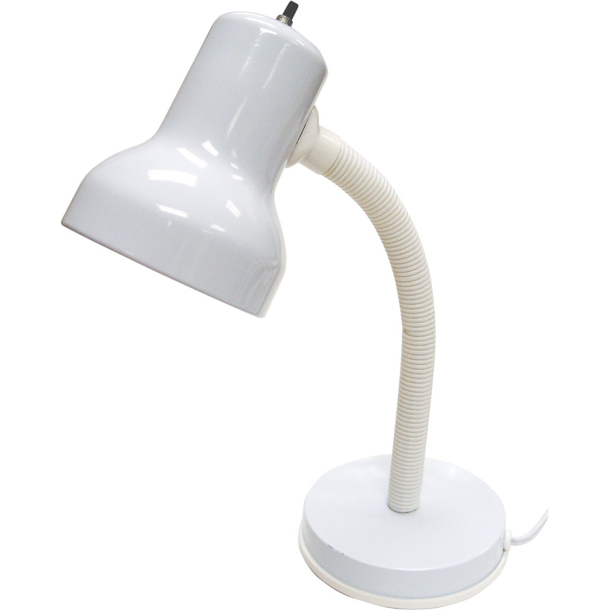 60W WHT GSNCK DESK LAMP - LS-211WHT by Lite Source