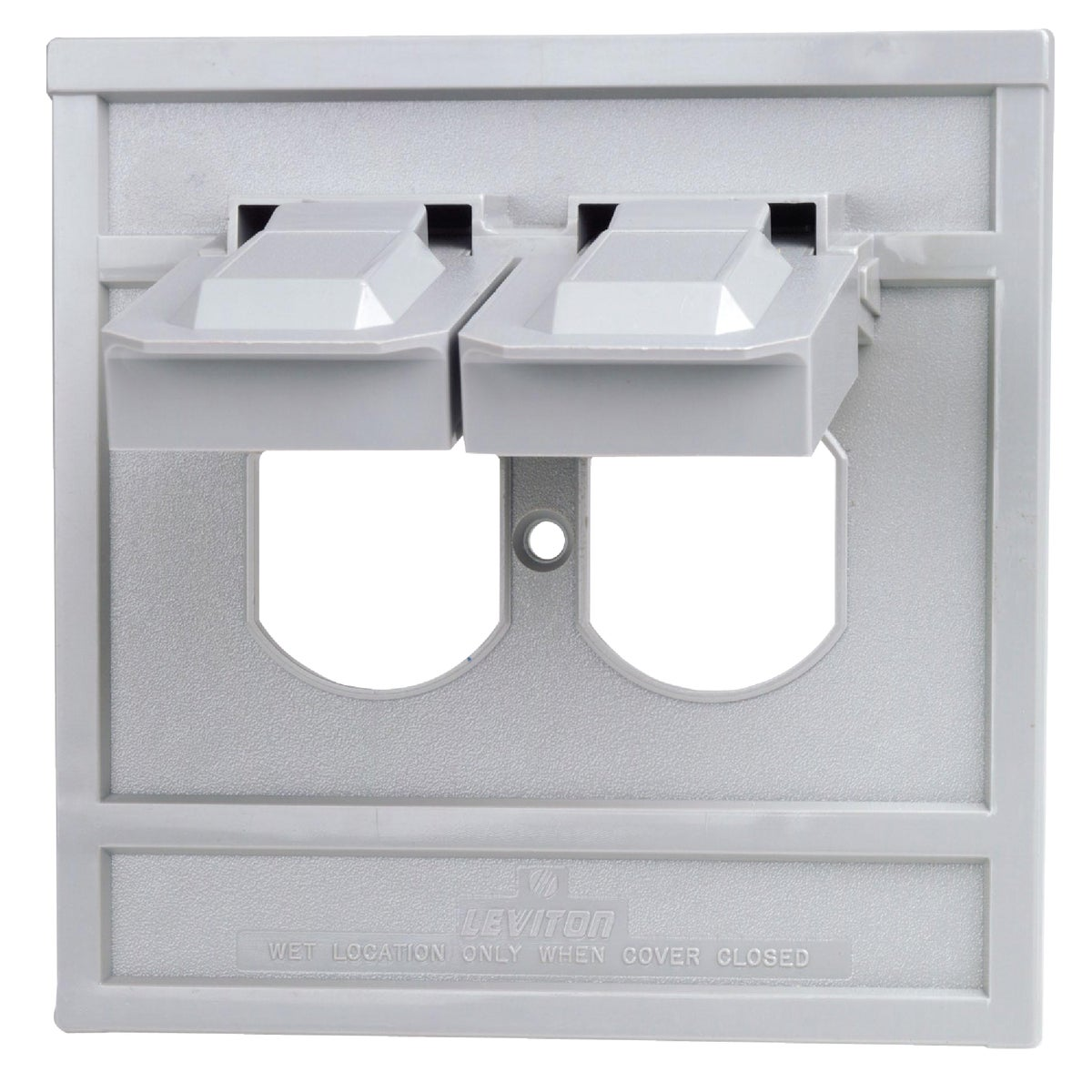 Leviton Commercial Grade Weatherproof Outdoor Outlet Cover, 0004986GY