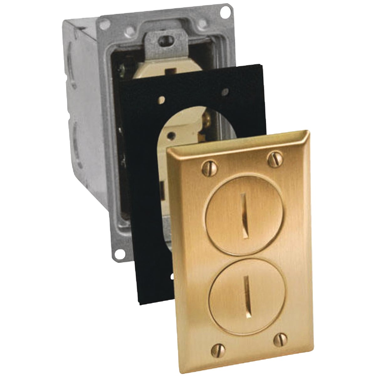 BRASS FLOOR OUTLET KIT - 71WDS by Thomas & Betts