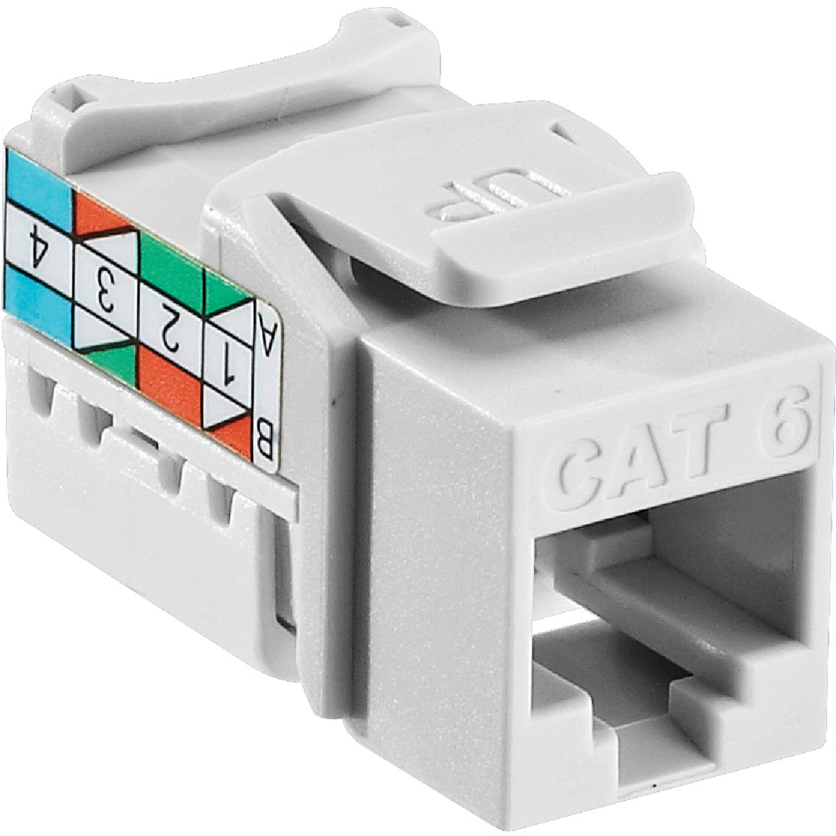 WHT 8-WIRE CAT6 JACK