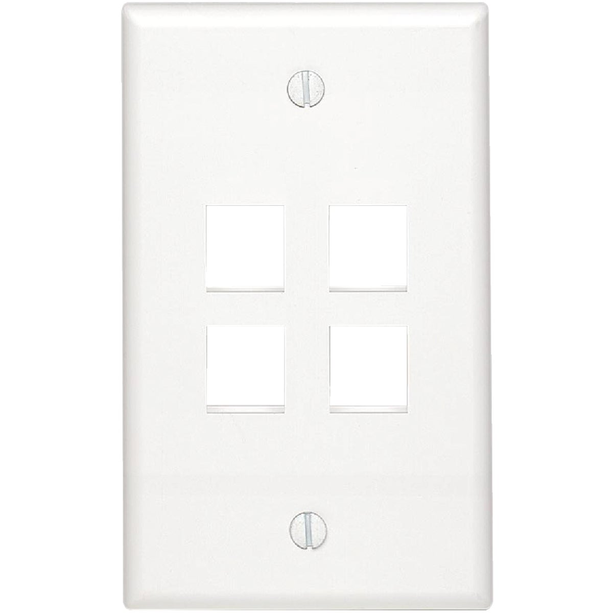 4-PORT WALL PLATE - C42-41080-4WP by Leviton Mfg Co