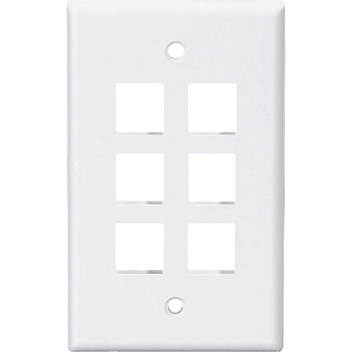 6-PORT WALL PLATE - R08-41080-6W by Leviton Mfg Co