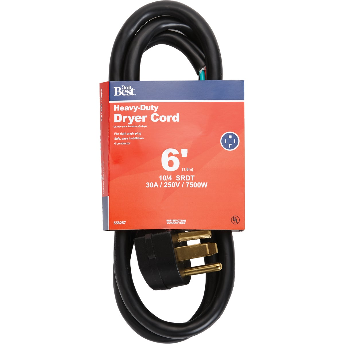 6' 10/4 DRYER CORD - 550769 by Coleman Cable Hwg
