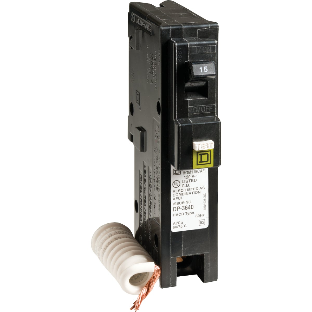 COMBO ARC FAULT BREAKER - HOM115CAFIC by Square D Co