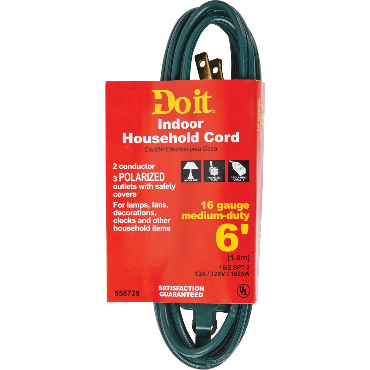 6' 16/2 GREEN EXT CORD - IN-PT2162-06X-GR by Do it Best