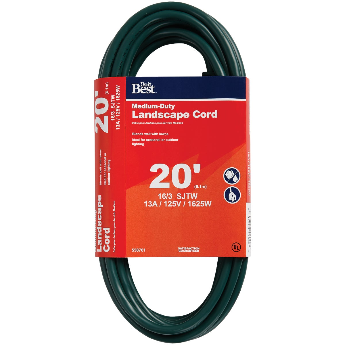 20' 16/3 GREEN EXT CORD - OU-JTW163-20X-GR by Do it Best