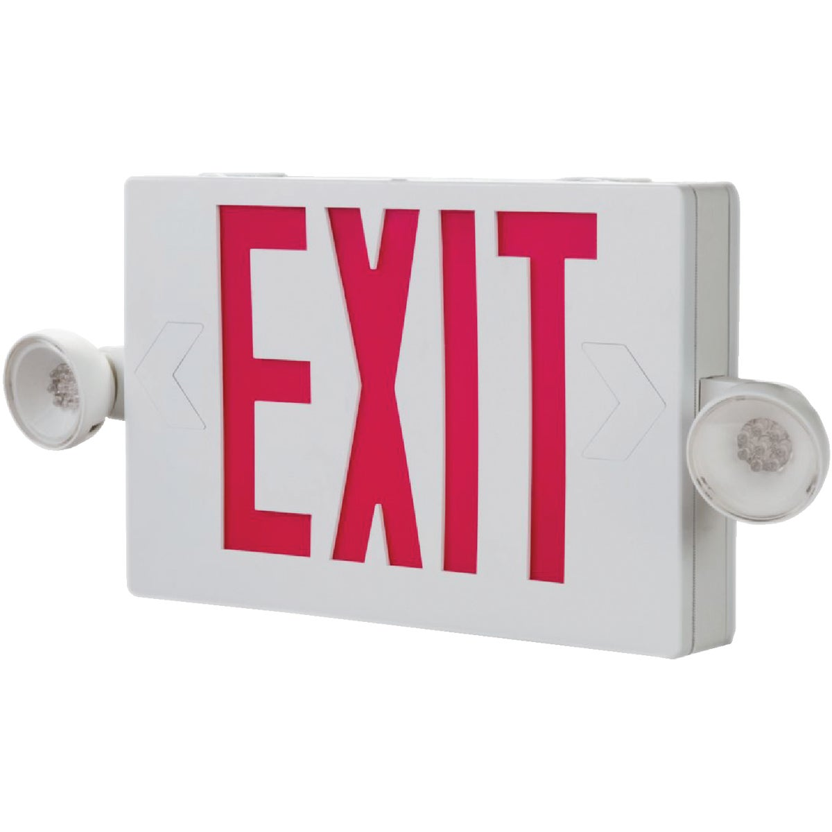 RED EXIT COMBO LIGHT - LHQMSW1R120/277 by Lithonia Lighting