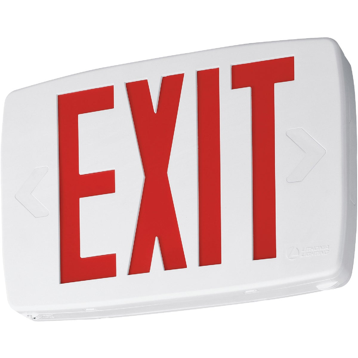 Lithonia Lighting LQSW3R120/2776 Quantum Plastic White LED Emergency Exit Sign