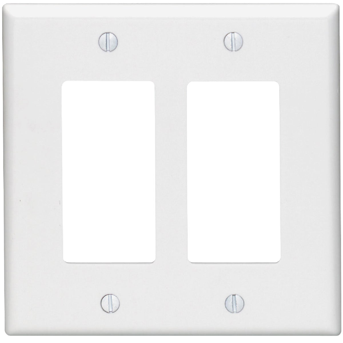 WHT 2-GFI WALL PLATE - 002-80609W by Leviton Mfg Co