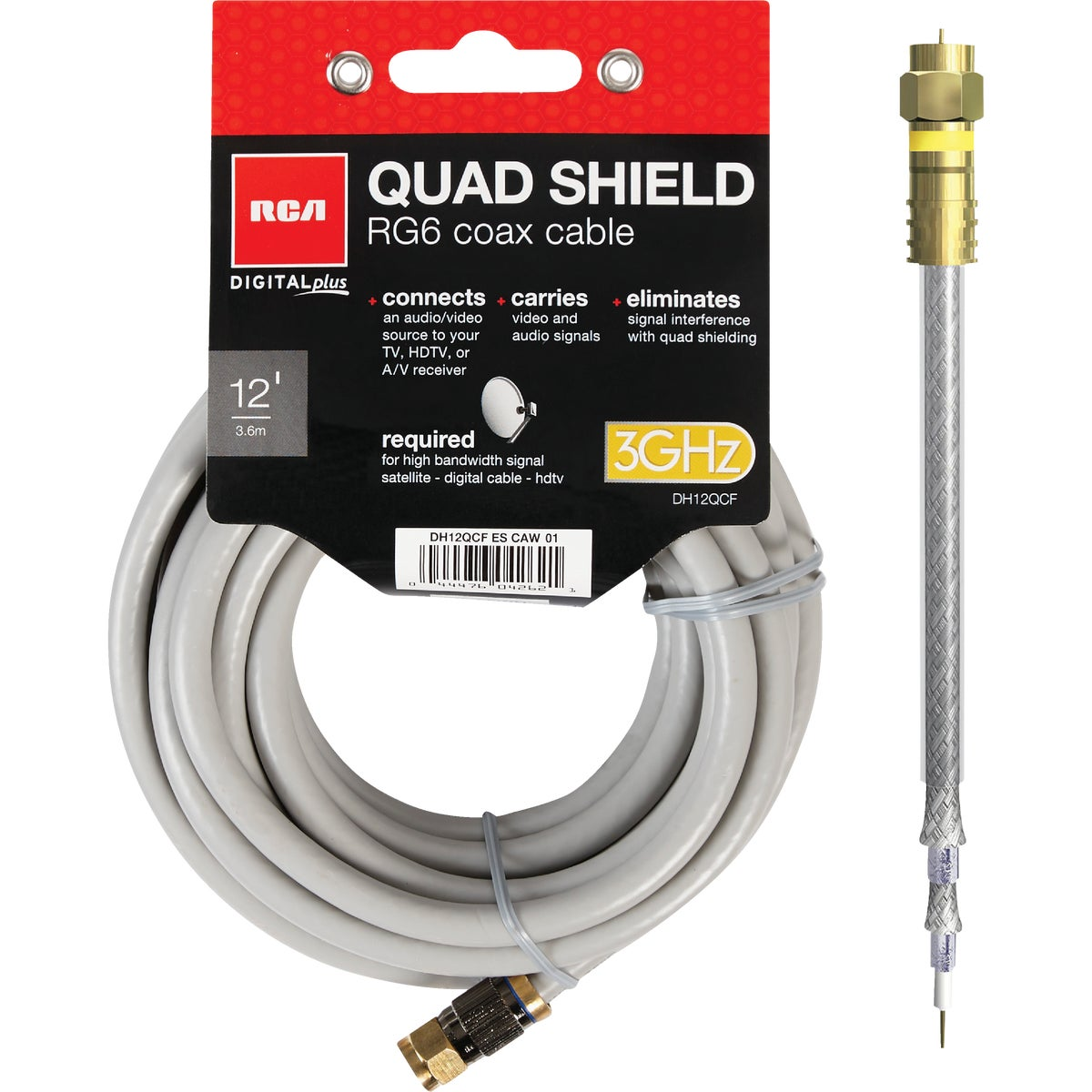 12' QUAD SHIELD CABLE