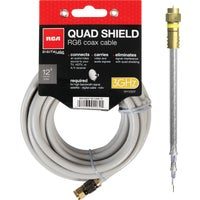 Audiovox Accessories 12' QUAD SHIELD CABLE DH12QCV