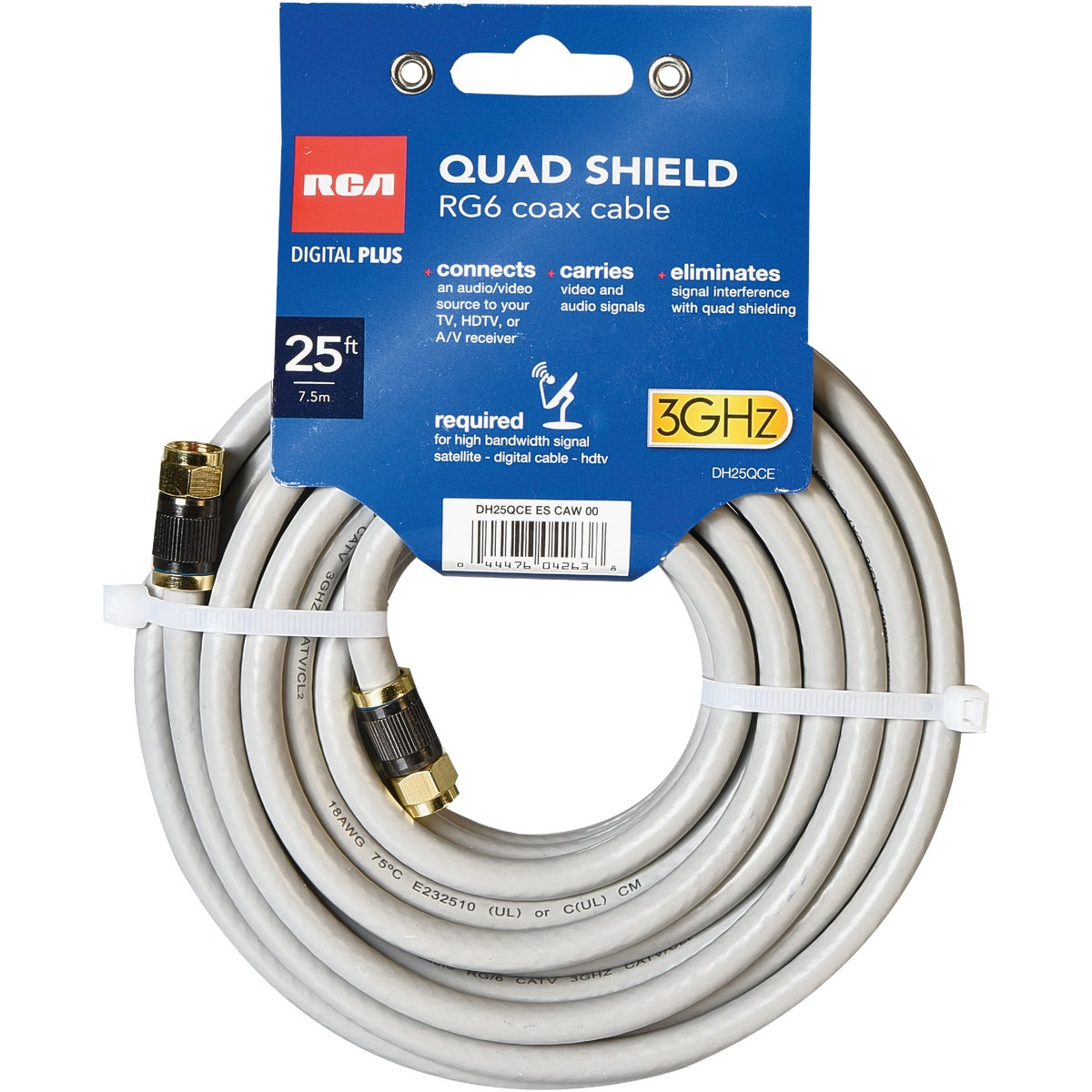 25' QUAD SHIELD CABLE
