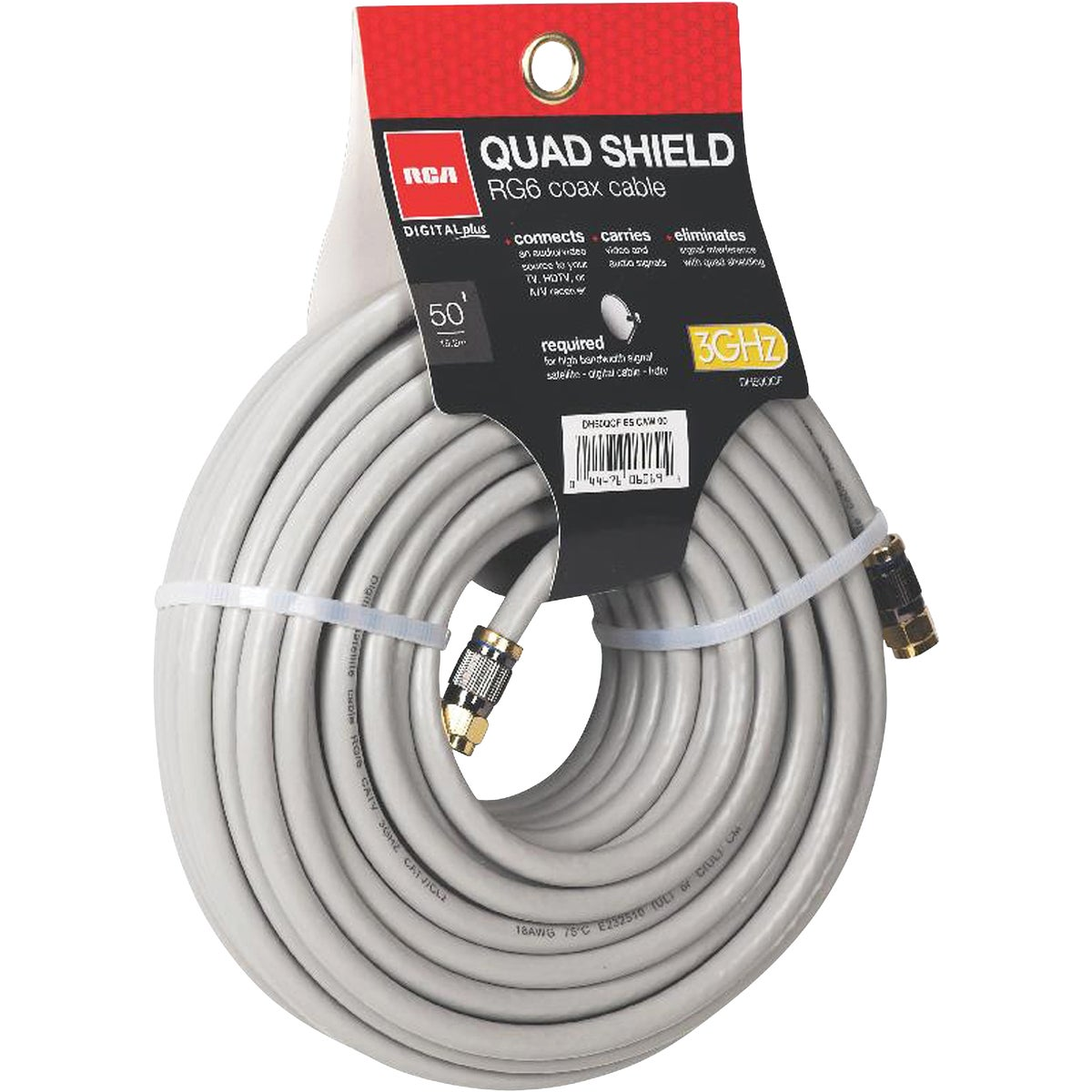 50' QUAD SHEILD CABLE