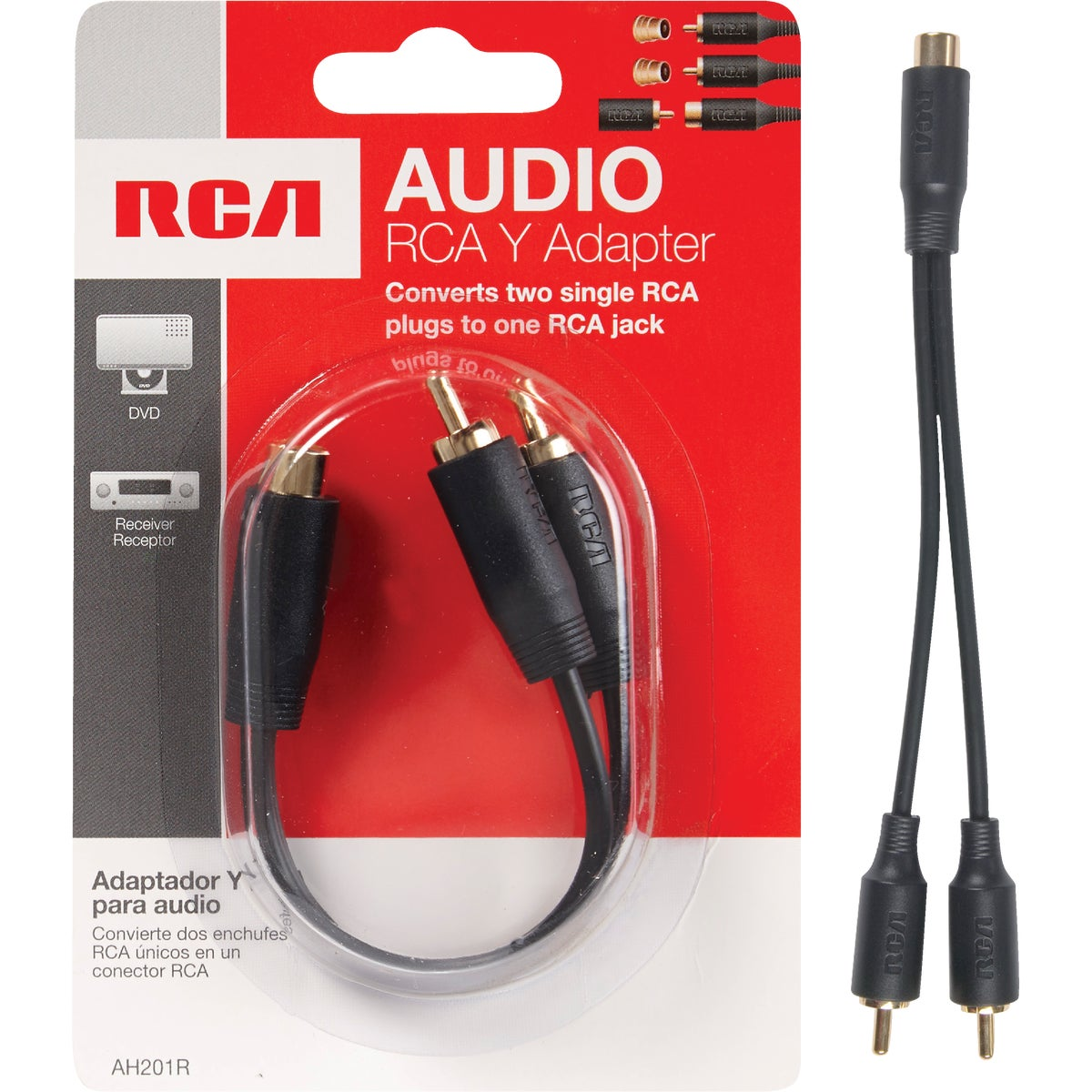 "6"" RCA Y ADAPTER - AH201R by Audiovox Accessories"
