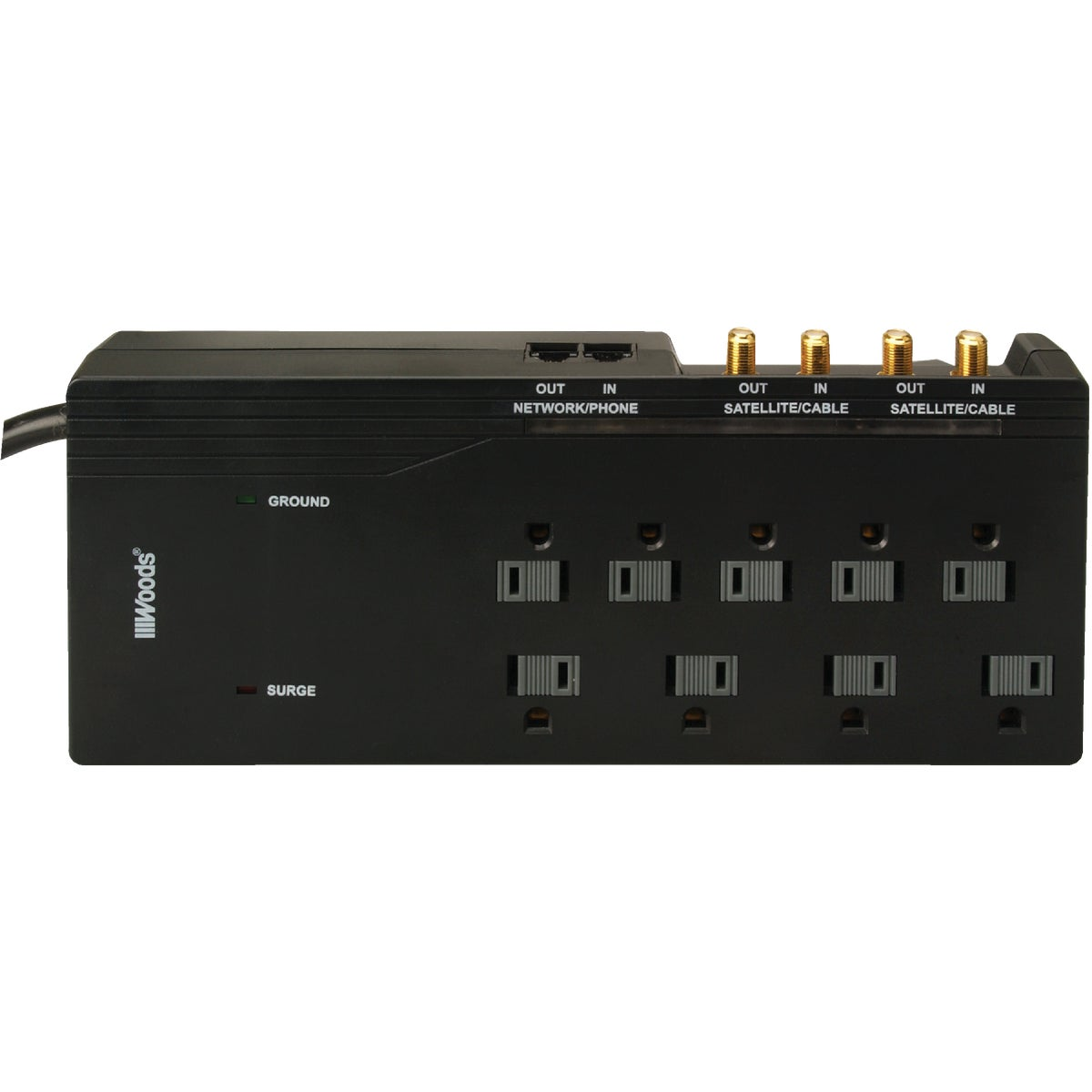 8-OUTLET SURGE PROTECTOR - 041653 by Woods Wire Coleman