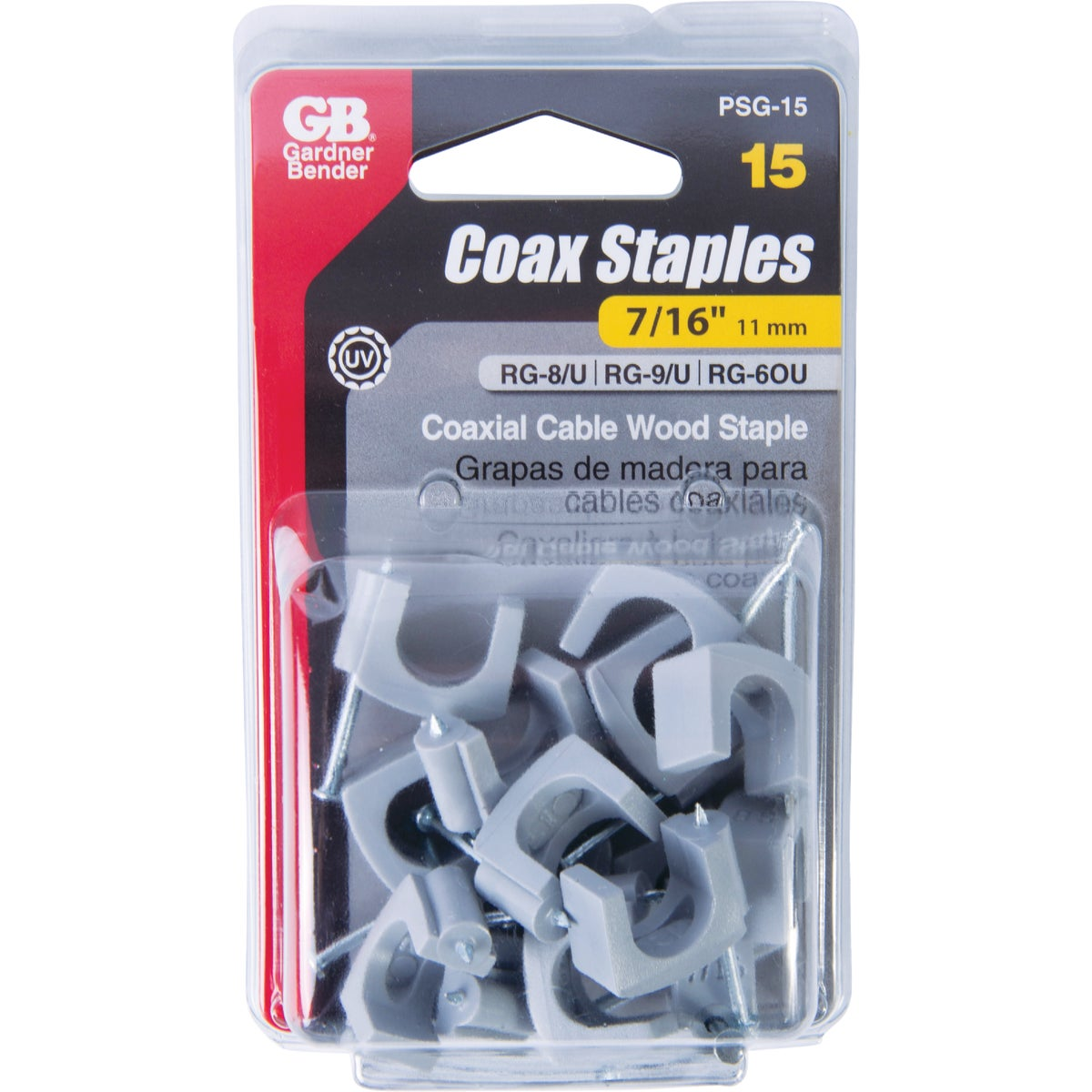 "7/16"" COAX CABLE STAPLE"