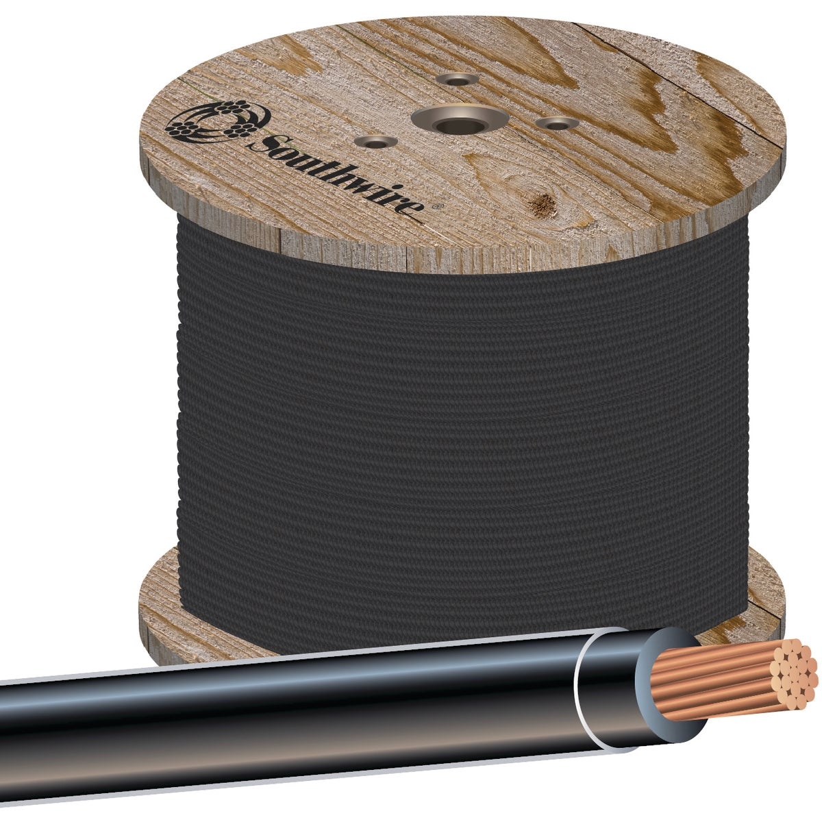 500'1/0STR BLK THHN WIRE - 20505402 by Southwire Company