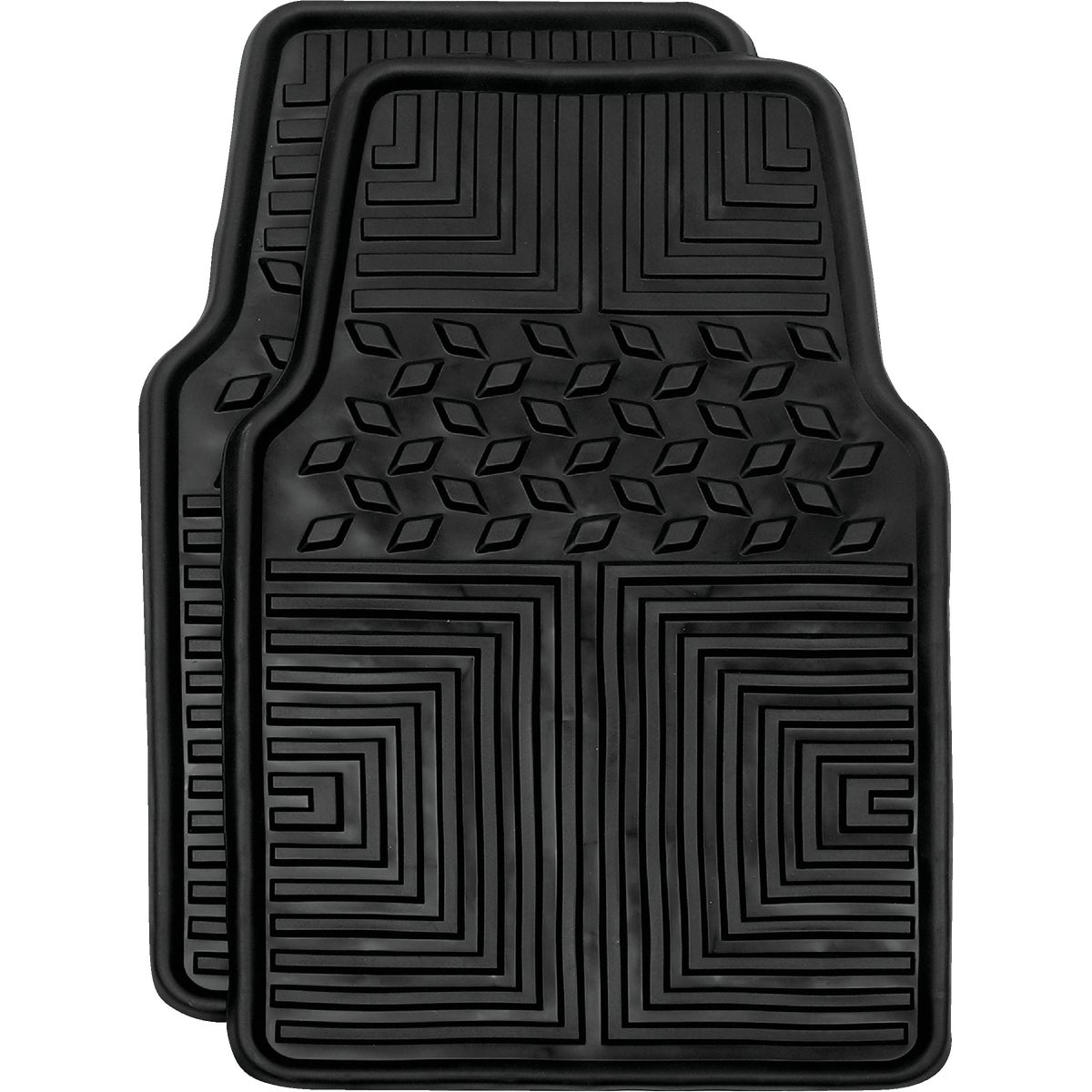 2Pc Blk Weather Flr Mats
