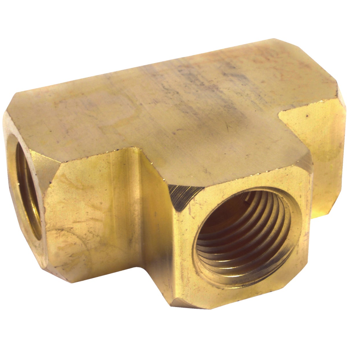 """1/4"""" BRASS TEE - 75363 by Forney Industries"""