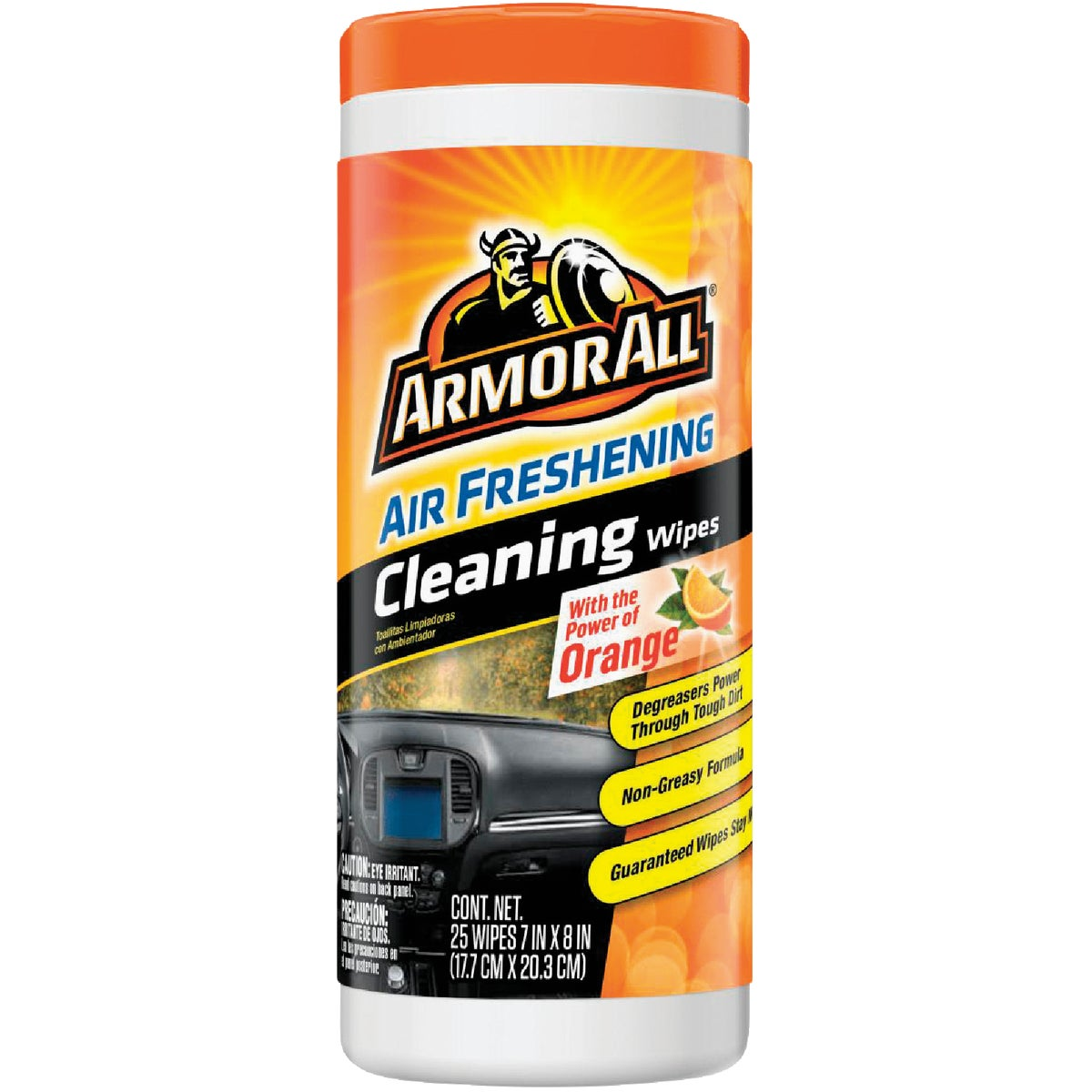 25 ORANGE CLEANING WIPES - 10831 by Armored Autogroup