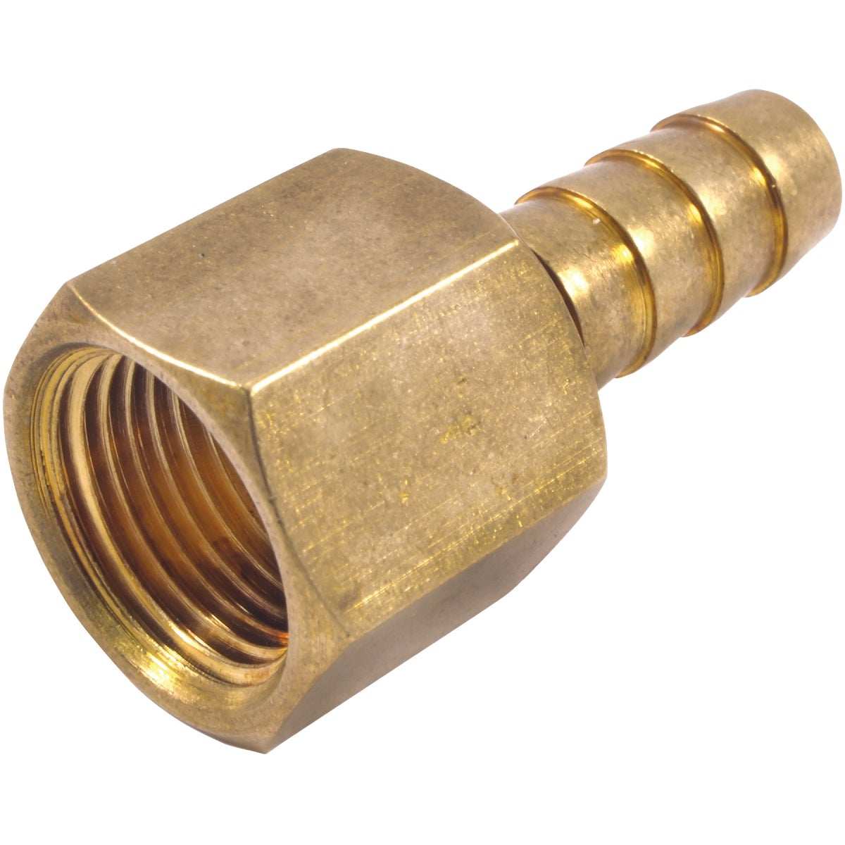 "3/8"" BRS BARBD HOSE END - 75530 by Forney Industries"