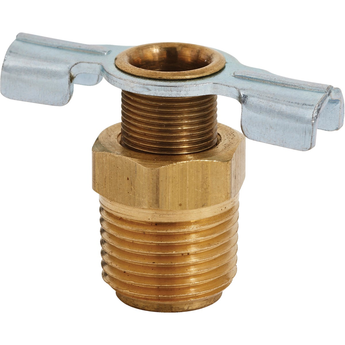 "3/8"" BRASS DRAIN COCK - S-614-6 by Milton Ind/ Incom"