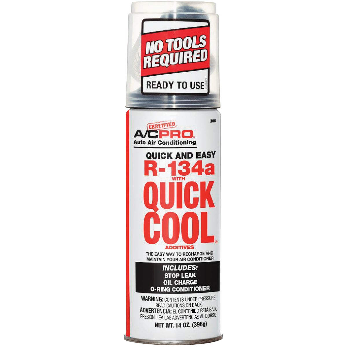 QUICK R134A REFRIGERANT - 306 by E F Products Inc
