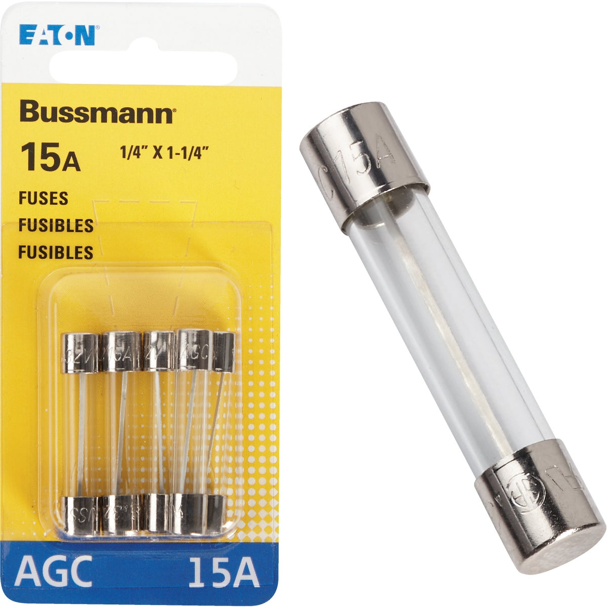 15AMP FUSE - BP/AGC-15-RP by Bussmann Cooper