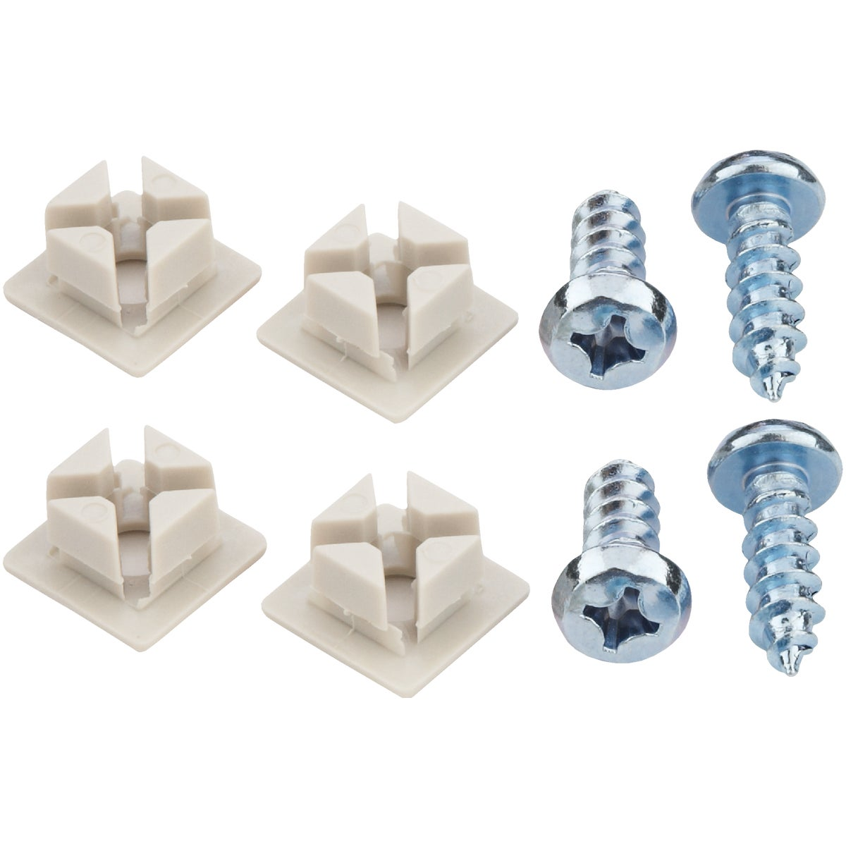 WHT MTL LICENSE FASTENER - 93322 by Custom Accessories