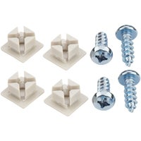 Custom Accessories WHT MTL LICENSE FASTENER 93322