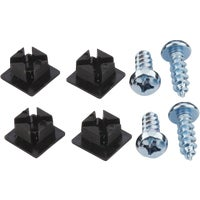 Blk Mtl License Fastener