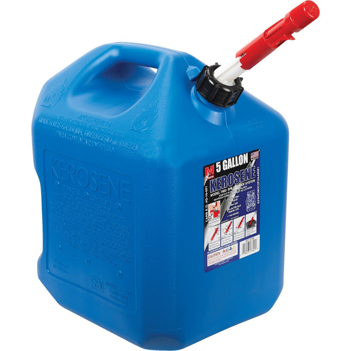 5GAL CARB KEROSENE CAN - 85059 by Plastics Group